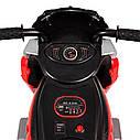 Детский электромобиль Мотоцикл M 4113 EL-3, EVA колеса, Кожаное сиденье, красный, фото 7