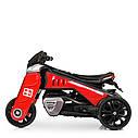 Детский электромобиль Мотоцикл M 4113 EL-3, EVA колеса, Кожаное сиденье, красный, фото 5
