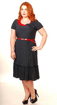 Женское платье Тюльпан горох (52-58)
