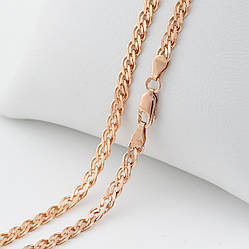 Серебряная цепочка позолоченная Нонна длина 60 см ширина 4.5 мм вес 13.62 г