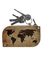 Ключница DM 01 Карта мира коричневая - 176595