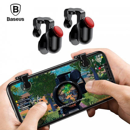 Игровой контроллер (джойстик, триггер) Baseus Red-Dot Mobile Game Scoring Tool ACHDCJ-01 для смартфона (Черный), фото 2