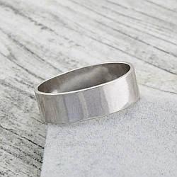 Серебряное Обручальное кольцо Американка, вес 3.12 г, размер 22