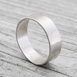 Серебряное Обручальное кольцо Американка, вес 3.12 г, размер 23