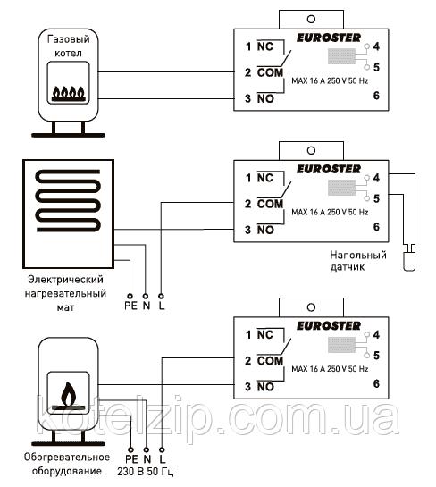как подключить программатор к котлу