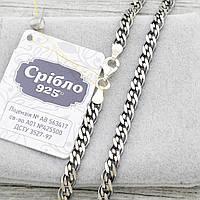 "Серебряная цепочка с чернением ""Нонна"", ширина 4.5 мм, вес 10.2 г, длина 45 см"
