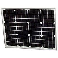 Сонячна монокристалічна батарея панель Altek ALM-50M 50W 12V