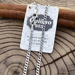 Серебряная цепочка Панцирная длина 55 см ширина 2.5 мм вес 7.5 г