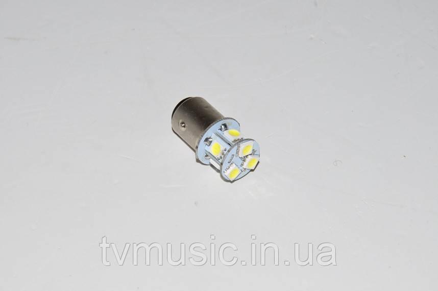 Светодиодная лампочка T25-5050-8SMD-1157 (два контакта)