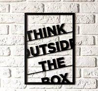 Интерьерная картина Decart Think outside the box T1002, 50х70, из дерева