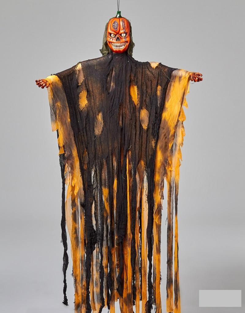 Мумия тыква с криком и мигающими глазами, декор на хэллоуин Halloween 170 см