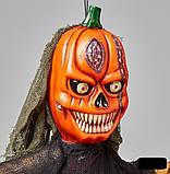 Мумия тыква с криком и мигающими глазами, декор на хэллоуин Halloween 170 см, фото 7