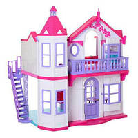 Домик кукольный, без кукол, с аксессуарами и мебелью