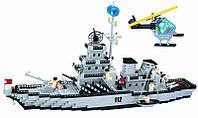 Большой конструктор для детей BRICK «Военный корабль», фото 1