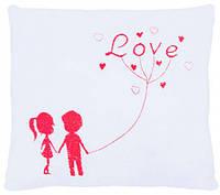 Подушка-валентинка Ты и я (красная), Тигрес (ПД-0217)