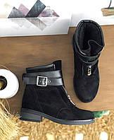 Женские замшевые и кожаные ботинки. Размеры 36-40