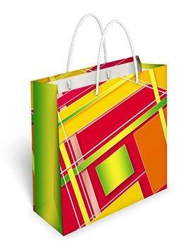 Бумажный подарочный пакет маленький квадрат 17.1*16.6*6.6см №35,082 СП