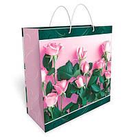 Бумажный подарочный пакет большой квадрат 32.3*32.3*14см №34,035 СП