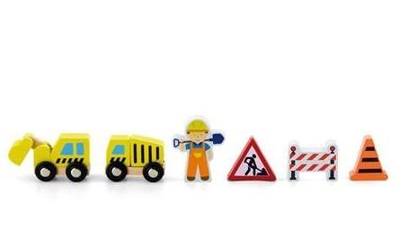 """Игровые элементы """"Строители"""" к детской железной дороге Viga Toys"""