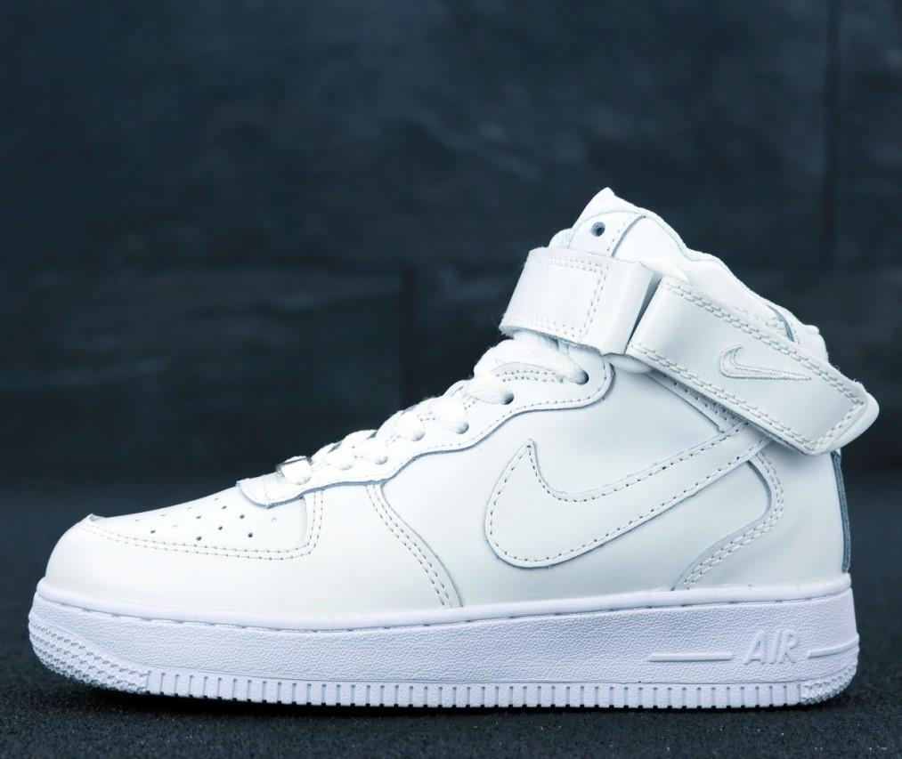 Женские Кроссовки Nike Air Force 1 mid Белые