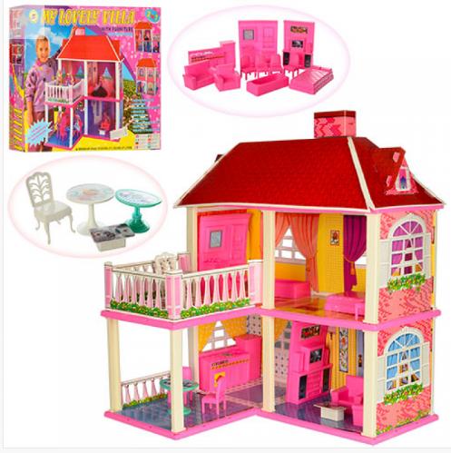 Детский домик с мебелью