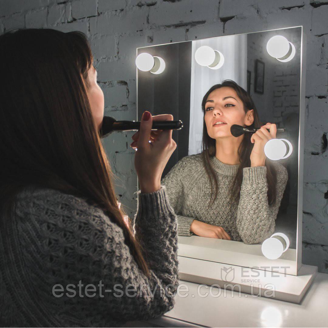 Настольное зеркало без рамы для макияжа с подсветкой 55х35см ES121