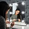 Настольное зеркало без рамы для макияжа с подсветкой 55х35см ES121, фото 2