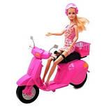 Кукла defa lucy на розовом скутере, фото 2