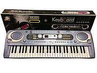 Детский синтезатор пианино - FM радио + микрофон. Работает от сети