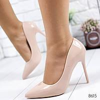 Туфли женские Jeri пудра лак 8615