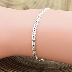 Серебряный браслет Нонна длина 16 см ширина 3 мм вес серебра 2.0 г