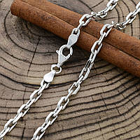 "Серебряная цепочка ""Якорная"", длина 60 см, ширина 4 мм, вес 20.0 г"