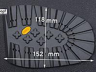 Подметка резиновая BISSELL, art.RB 517 B, т. 8 мм, цв. чёрный