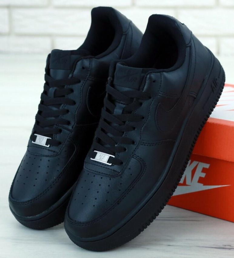"Мужские Кроссовки Nike Air Force 1 Low ""Black"", nike air force low"