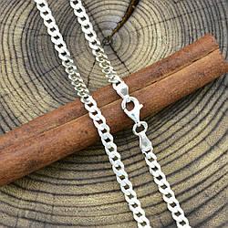 Серебряная цепочка Панцирная скруглённая длина 45 см ширина 3.5 мм вес 10.4 г