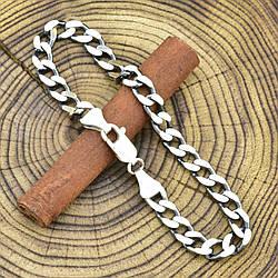 """Серебряный браслет с чернением """"Панцирный"""", длина 24 см, ширина 7 мм, вес серебра 19.5 г"""