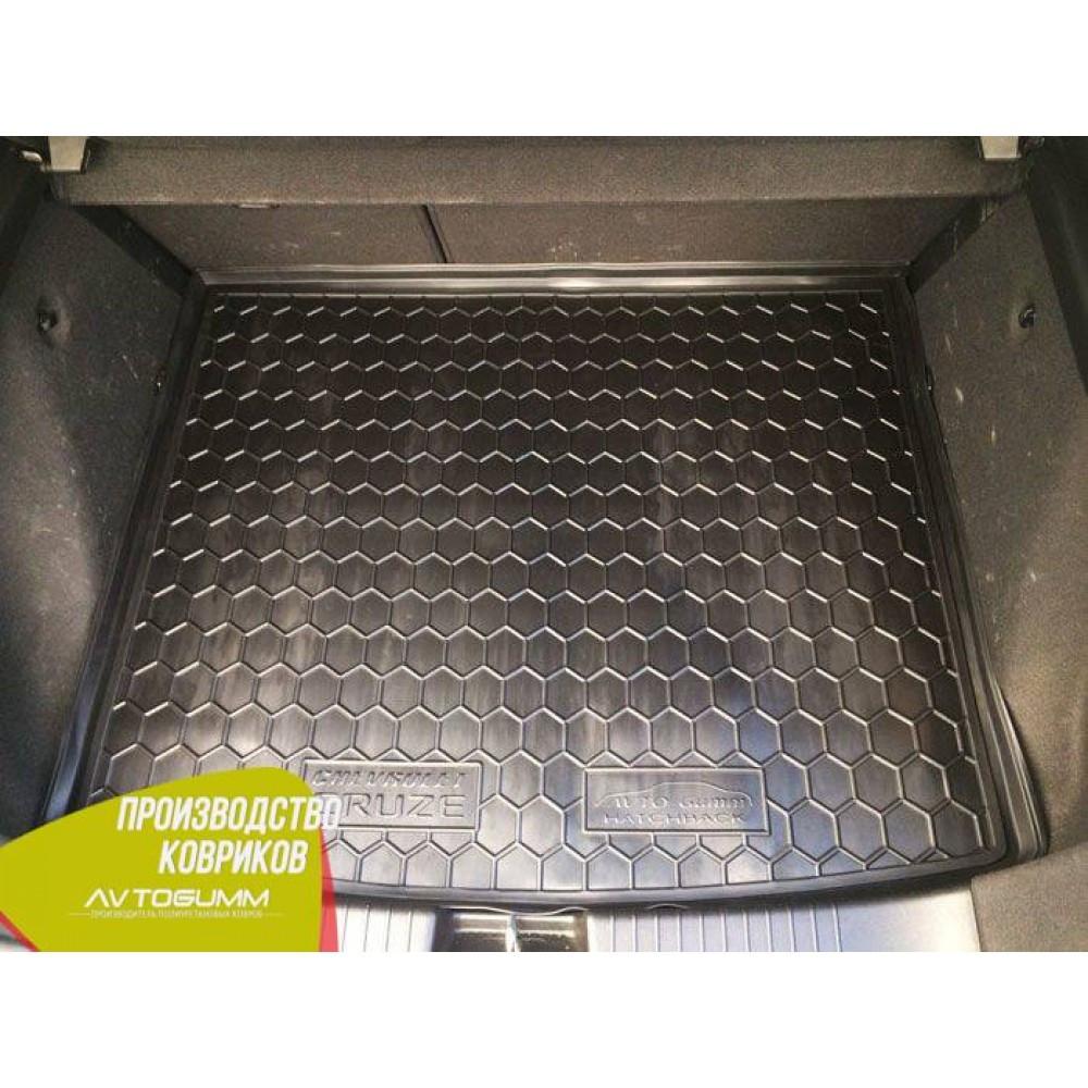 Авто коврик в багажник Chevrolet Cruze 2011- Hatchback (Avto-Gumm) Автогум