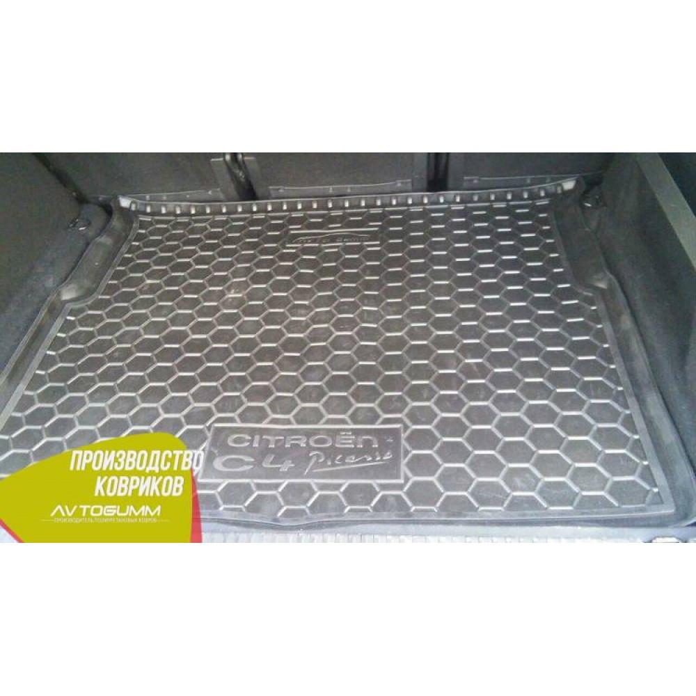 Авто коврик в багажник Citroen C4 Picasso 2014- (Avto-Gumm) Автогум