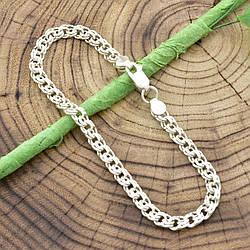 """Серебряный браслет """"Бисмарк"""", длина 20 см, ширина 5 мм, вес серебра 7.7 г"""