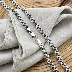 """Серебряная цепочка с чернением """"Тройной Бисмарк"""", длина 50 см, ширина 4.5 мм, вес 17.6 г"""