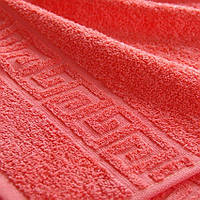 Полотенце махровое Coral red