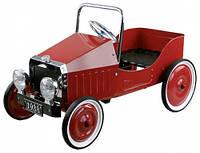 Педальная машинка Ретро автомобиль, красный, Goki (14062G)