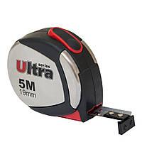 Рулетка магнитная, нейлоновое покрытие 5м*19мм Ultra (3822052)