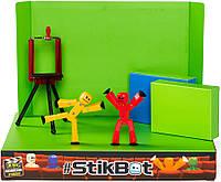 Игровой набор для анимационного творчества STIKBOT S1 – СТУДИЯ Z-SCREEN (2 экскл. фиг.,штатив,сцена) (TST617)