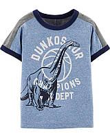 Модная детская футболка Динозавр (светится в темноте) OшКош для мальчика