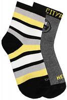 Набор из 2-х пар носков в полосочку и с маской, Duna, чёрный, 16-18 (23-26) (1067/16-18/чорний)