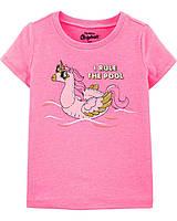 Красивая детская футболка Лебедь-Единорог OшКош для девочки
