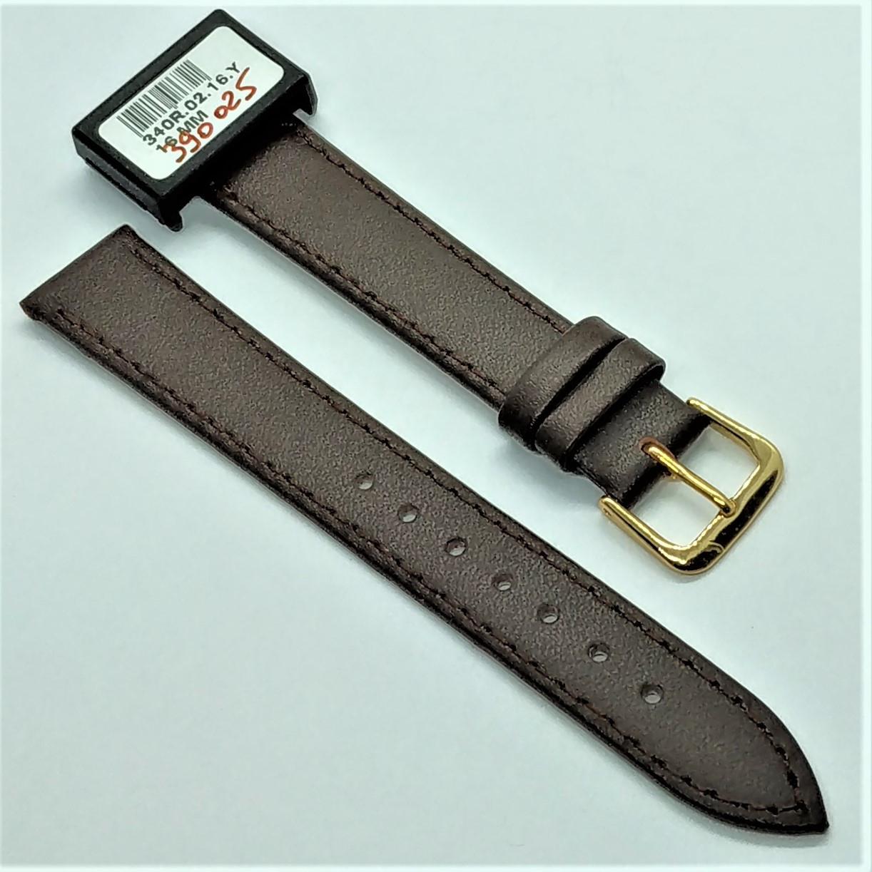 16 мм Кожаный Ремешок для часов CONDOR 340.16.02 Коричневый Ремешок на часы из Натуральной кожи