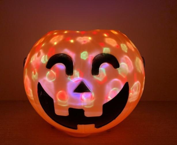 Тыква Smile светящаяся и смеющаяся Хэллоуин Halloween