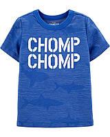 Модная детская футболка Акулы (светится в темноте) OшКош для мальчика